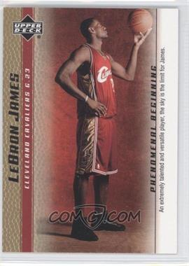 2003-04 Upper Deck Lebron James Phenomenal Beginning - Box Set [Base] - Gold #1 - Lebron James