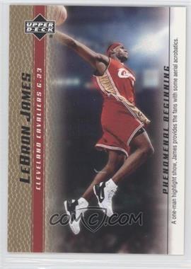 2003-04 Upper Deck Lebron James Phenomenal Beginning - Box Set [Base] - Gold #13 - Lebron James