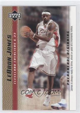 2003-04 Upper Deck Lebron James Phenomenal Beginning - Box Set [Base] - Gold #16 - Lebron James