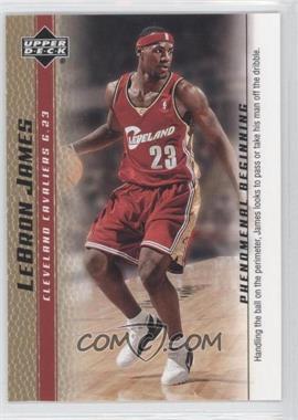 2003-04 Upper Deck Lebron James Phenomenal Beginning - Box Set [Base] - Gold #2 - Lebron James