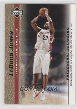 2003-04 Upper Deck Lebron James Phenomenal Beginning - Box Set [Base] - Gold #3 - Lebron James