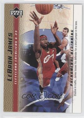 2003-04 Upper Deck Lebron James Phenomenal Beginning - Box Set [Base] - Gold #6 - Lebron James