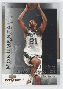 2003-04 Upper Deck MVP - Monumental Moments #MM3 - Tim Duncan