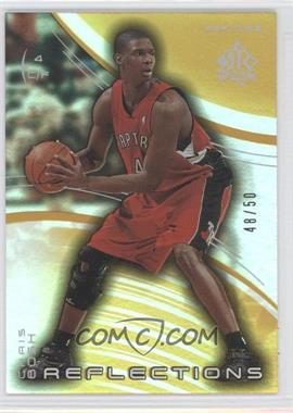 2003-04 Upper Deck Triple Dimensions - Reflections - Gold #81 - Chris Bosh /50