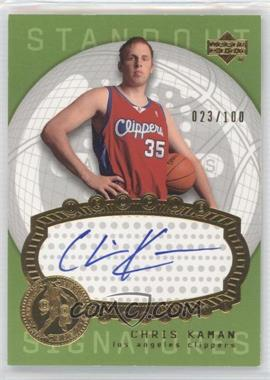 2003-04 Upper Deck Triple Dimensions - Standout Signatures #STA31 - Chris Kaman /100