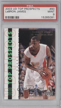 2003-04 Upper Deck UD Top Prospects - [Base] #60 - Lebron James [PSA9]