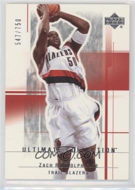 2003-04 Upper Deck Ultimate Collection - [Base] #92 - Zach Randolph /750