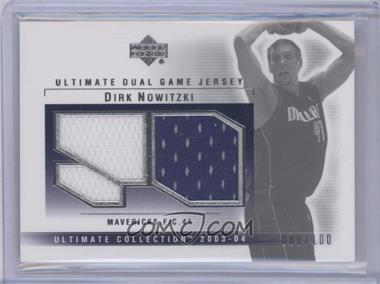 2003-04 Upper Deck Ultimate Collection - Dual Game Jersey #DN-2J - Dirk Nowitzki /100