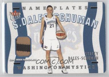 2003 Fleer Ultra WNBA - Name Plates #N-SD - Stacey Dales /50