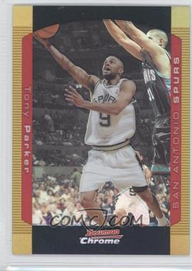 2004-05 Bowman Draft Picks & Prospects - Chrome - Gold Refractor #9 - Tony Parker /50