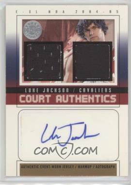 2004-05 E-XL - Court Authentics Autographs - Jerseys/Warm-ups [Autographed] #CAA-LJ - Luke Jackson /30