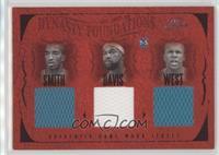 J.R. Smith, Baron Davis, David West, Jamaal Magloire, Jamal Mashburn #/99