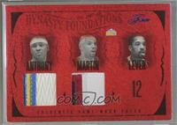 Carmelo Anthony, Kenyon Martin, Fat Lever, Alex English, Dan Issel [Noted] #/50