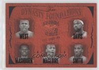 David West, Baron Davis, Jamal Mashburn, Jamaal Magloire, J.R. Smith #/500