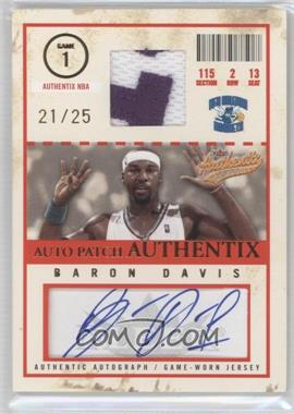 2004-05 Fleer Authentix - Auto Patch Authentix - 25 #AJA-BD - Baron Davis /25