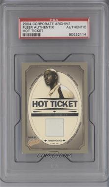 2004-05 Fleer Authentix - Hot Ticket - Jerseys Non-Numbered #HT-KG - Kevin Garnett [PSAAUTHENTIC]