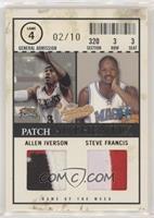 Allen Iverson, Steve Francis /10