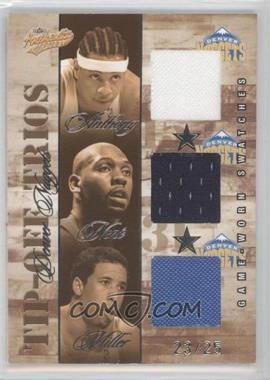 2004-05 Fleer Authentix - Tip-Off Trios Jerseys - 25 #TT-DN - Carmelo Anthony, Nene, Andre Miller /25