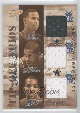 2004-05 Fleer Authentix - Tip-Off Trios Jerseys - 75 #TT-MB - T.J. Ford, Desmond Mason, Michael Redd /75