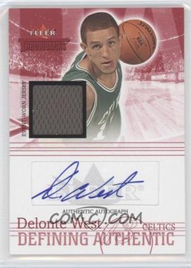 2004-05 Fleer Throwbacks - Defining Authentic - Jersey Autographs #DAA-DEW - Delonte West /149