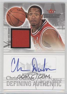 2004-05 Fleer Throwbacks - Defining Authentic - Silver Jersey Autographs #DAA-CD - Chris Duhon /149