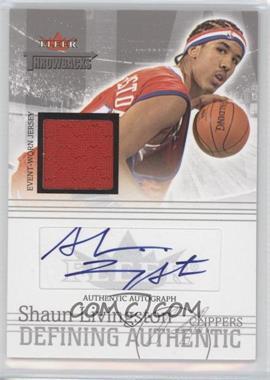 2004-05 Fleer Throwbacks - Defining Authentic - Silver Jersey Autographs #DAA-SL - Shaun Livingston /50