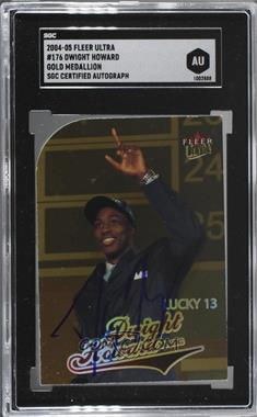2004-05 Fleer Ultra - [Base] - Gold Medallion #176 - Dwight Howard [SGCAuthenticAuthentic]