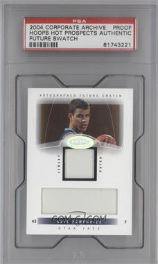 2004-05 Hoops Hot Prospects - [Base] - Corporate Archive Proof #81 - Kris Humphries [PSA AUTHENTIC]