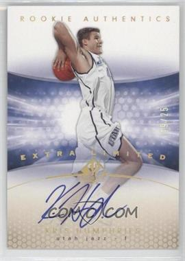 2004-05 SP Authentic - [Base] - Extra Limited #174 - Rookie Authentics - Kris Humphries /25