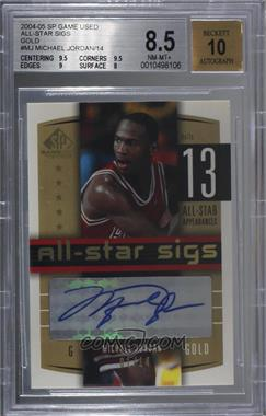 2004-05 SP Game Used - All-Star Sigs - Gold #AS-MJ - Michael Jordan /14 [BGS 8.5 NM‑MT+]