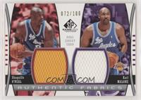 Shaquille O'Neal, Karl Malone #/100