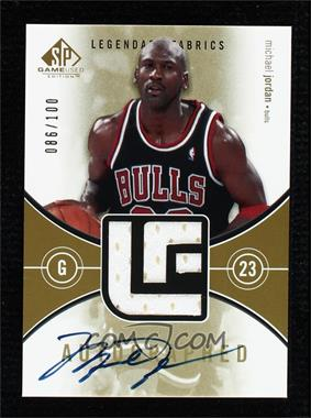 2004-05 SP Game Used - Autographed Legendary Fabrics #ALF-MJ - Michael Jordan /100