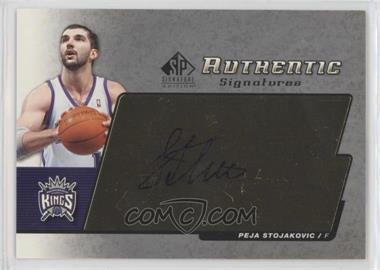 2004-05 SP Signature Edition - Authentic Signatures - [Autographed] #AS-PS - Peja Stojakovic
