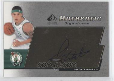 2004-05 SP Signature Edition - Authentic Signatures - [Autographed] #AS-WE - Delonte West