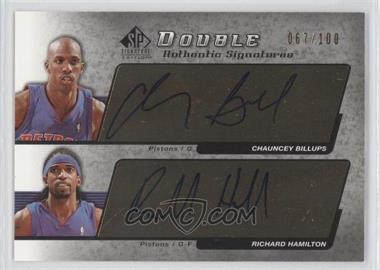 2004-05 SP Signature Edition - Authentic Signatures - Dual [Autographed] #AS2-2 - Chauncey Billups, Richard Hamilton