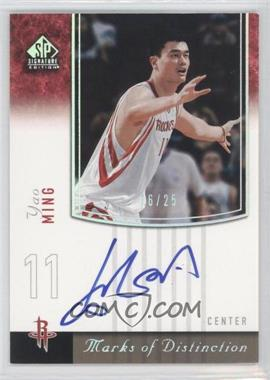 2004-05 SP Signature Edition - Marks of Distinction - [Autographed] #MD-YM - Yao Ming /25