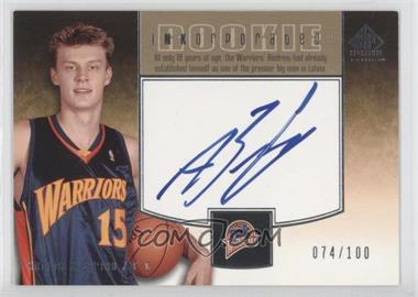 2004-05 SP Signature Edition - Rookie INKorporated - [Autographed] #RI-AB - Andris Biedrins /100