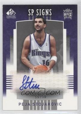 2004-05 SP Signature Edition - SP Signs - [Autographed] #SPS-PS - Peja Stojakovic /50