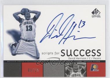 2004-05 SP Signature Edition - Scripts for Success - [Autographed] #SS-DA - David Harrison /25