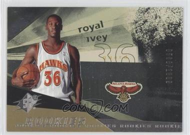 2004-05 SPx - [Base] #110 - Rookies - Royal Ivey /1999