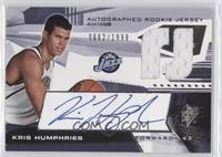 Autographed Rookie Jersey - Kris Humphries #/1,999