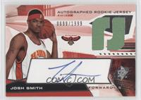 Autographed Rookie Jersey - Josh Smith /1999