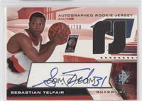 Autographed Rookie Jersey - Sebastian Telfair #/750