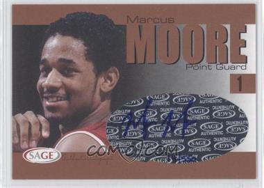 2004-05 Sage Autographed Basketball - Authentic Autograph - Bronze #A20 - Marcus Moore /550