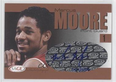 2004-05 Sage Autographed Basketball - Authentic Autograph - Bronze #A20 - Marcus Moore /550