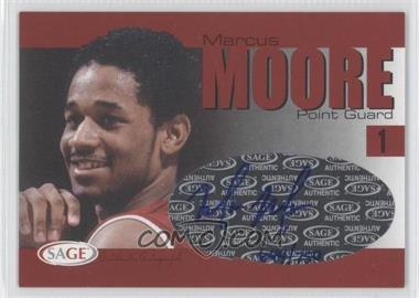 2004-05 Sage Autographed Basketball - Authentic Autograph #A20 - Marcus Moore /750