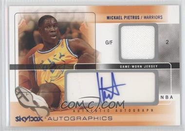 2004-05 Skybox Autographics - Autographics - Jerseys Blue #AG-MP - Mickael Pietrus /100
