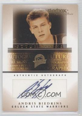 2004-05 Skybox Autographics - Future Signs - Gold #FSA-AB - Andris Biedrins /50