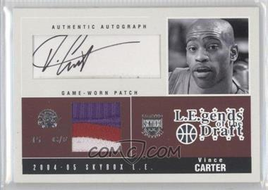 2004-05 Skybox L.E. - L.E.gends of the Draft - Patches Autographs #LDA-VC - Vince Carter /25