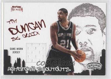 2004-05 Skybox Premium - Hometown Shoutouts Jerseys - Ruby #HSJ-TD - Tim Duncan /75